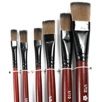 Art Artist Supplies 6 Brown Nylon Paint Brushes Price Philippines
