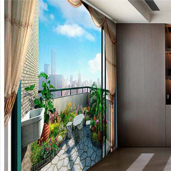 Art Deco Wallpaper Contemporary Wall Covering Canvas Paper LargeBalcony Landscape Mural (13'6''X8'3'') Price Philippines