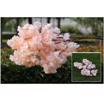 Artificial 3 Branchlets High-end Simulation Silk Cherry Blossoms Plant Flowers Fake Wedding Home Decoration Accessories - intl - 2