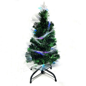 Artificial Christmas Tree W/ Built In Multicolored Lights On Tip 4Ft/120Cm
