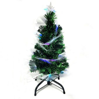 Artificial Christmas Tree w/ Built in Multicolored Lights On Tip 8Ft/240cm