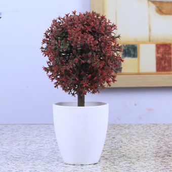 Artificial flowers Bonsaii trees fake tree grass ball LZNC