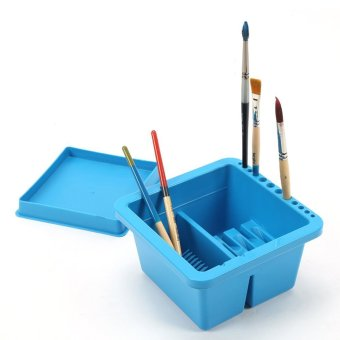 Artist Brush Basin, Multifunction Paint Brush Tub with Brush Holder- Intl Price Philippines