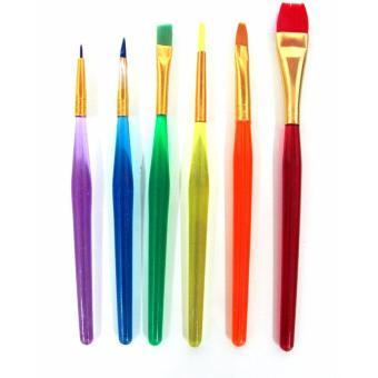 Artist Brush Colored 6pcs. - 2