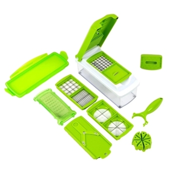 As Seen on TV 12-Piece Multiple Purpose Nicer Dicer ChopperAll-in-one Kitchen Tool Peeler Slicer