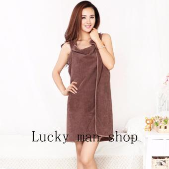 AS SEEN ON TV Can wear Super Absorbent Microfiber Bath Towel brown