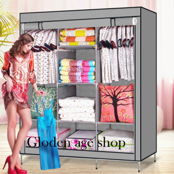AS SEEN ON TV High Quality Multifunctional Wardrobe Storage CabinetDust Cover Waterproof (Gray)