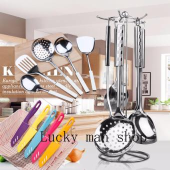 As Seen On TV Malaysia 12 in 1 Stainless Steel Kitchen Utensil Setwith Stand
