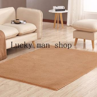 As Seen On TV Malaysia 40cm x 40cm mini silk hair living roomcoffee table bedroom carpet BROWN