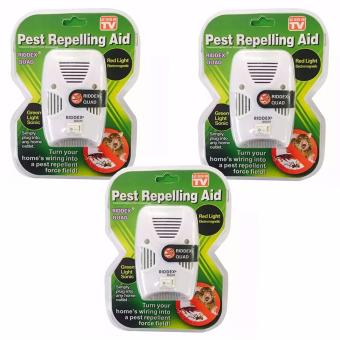 As Seen on TV Riddex Quad Pest Repelling Aid Features Sonic Pest Repelling Aid, Set Of 3