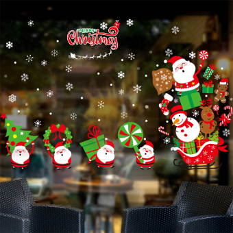 Atmosphere Christmas shop decorative glass window grilles