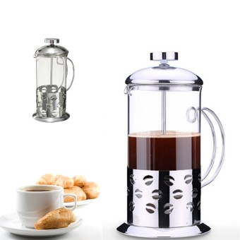 Audew Stainless Steel Glass Cafetiere Teapot Pot Filter Coffee Tea Press Plunger 350ml Audew NEW - intl