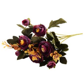 Aukey Artificial Fake Peony Flower Purple
