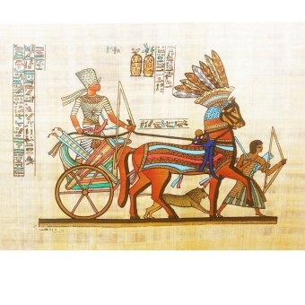 Authentic Egyptian Handmade Hand Painted Papyrus Painting 20x30 cm(Ramses Riding Into Battle at Kadesh) Price Philippines