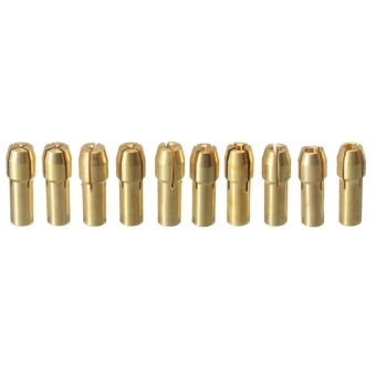 Autoleader 10pcs Brass Drill Chuck Collet Bit For Dremel Rotary Tools 0.5-3.2mm 4.3mm
