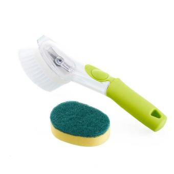 Automatic cleaning liquid dishwashing scrub brush pot cleaningbrush long-handled kitchen bathroom plastic bristles