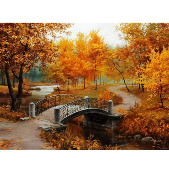 Autumn Scenery 40*30cm DIY Paint By Digital Oil Painting Kit Canvas- intl Price Philippines