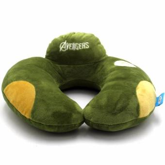 Avengers U Shaped Travel Pillow Neck Support Head (Green)