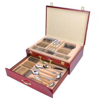 AYD Elegant 84 PCS 18/10 Grade Stainless Steel Cutlery with WoodenCase - 2