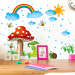 Baby Cartoon children's room school kindergarten wall adhesive paper sticker