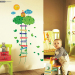 Baby cartoon feet tall stickers bedroom wall adhesive paper ladder