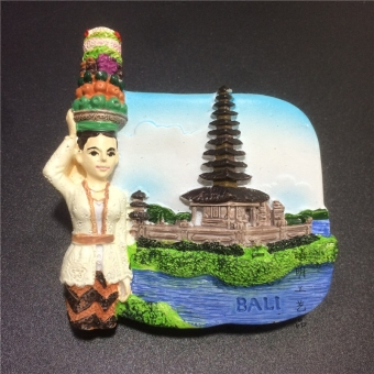 Bali World Travel resin fridge magnet