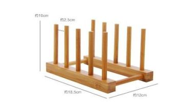 Bamboo wooden insulated pad rack dishes rack shelf