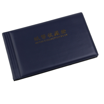 Banknote Currency Collection Album Paper Money Pocket 30 Pages Royalblue - 2
