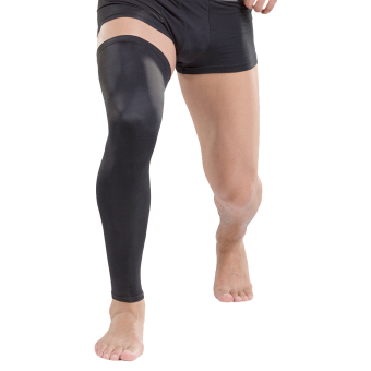 Bao Core 1 Pair Mens Professional Over Knee Compression CalfSleeves Leg Tights Supports Long Knee Pads for Basketball WorkoutGYM Running Cycling Crossfit Football Sport Extra Large Black -intl