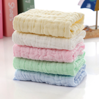 Baobao cotton gauze baby face towel