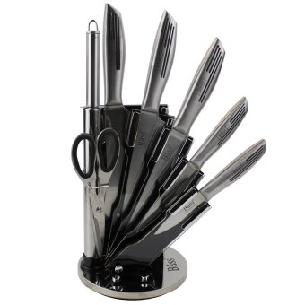 Bass Antibacterial 8-Piece Knife Set (Stainless Steel)