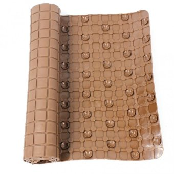 Bathlux Non Slip Suction Rubber Blocks Design Bath Mat Door Mat(Brown) - 2