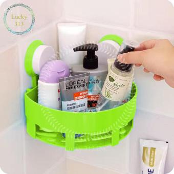Bathroom Corner Storage Shelf Holder Organizer (Green)