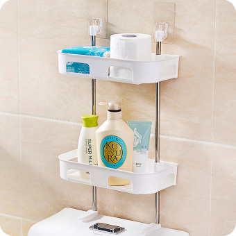 Bathroom hanging bonded toilet storage rack shelf