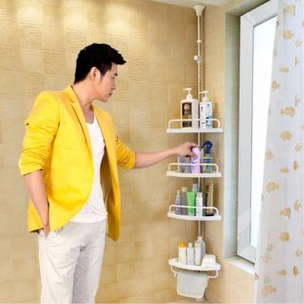 Bathroom Shelf Corner Rack Organiser (white)