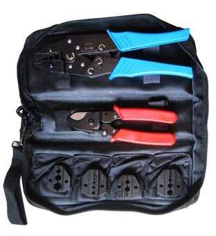 BAYM Coaxial cable Crimping Tool kit with cable cutter & replaceable dies for TV cable BNC coax connector BM-K05H 6pcs/bag - Intl