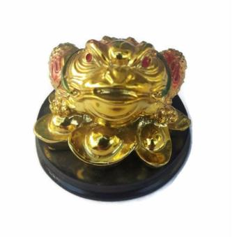 Be Lucky Charms Feng Shui Money Catcher Three Legged Lucky GoldenFrog Ornament - 3