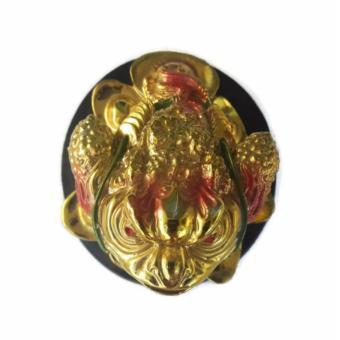 Be Lucky Charms Feng Shui Money Catcher Three Legged Lucky GoldenFrog Ornament - 4