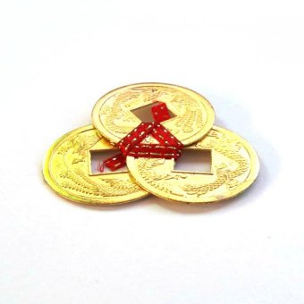 Be Lucky Charms Feng Shui Wealth Catcher Gold I-Ching Coins