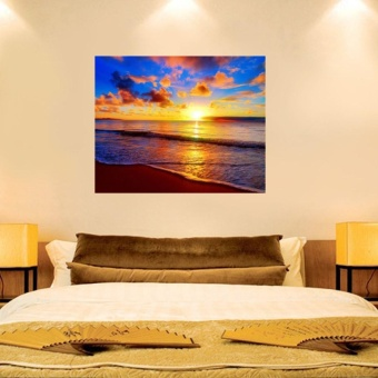 Beach Sunrise Embroidery 5D Diamond DIY Painting Cross Stitch Home Wall Decor - intl