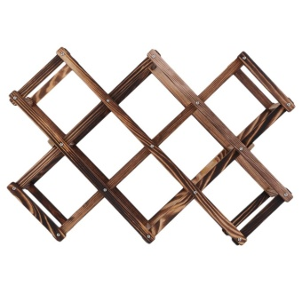 Beau Wooden Red Wine Rack 3/6/10 Bottle Holder Mount Kitchen Bar Display Shelf - intl