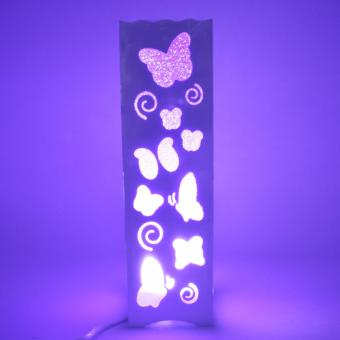 Beautiful Hollow Pattern Butterfly Shape Night Light Lamp (Violet)
