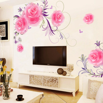 Bedroom wall self-sticky painting adhesive paper