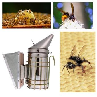 Bee Hive Smoker Stainless Steel w/ Heat Shield ProtectionBeekeeping Tool - intl - 3