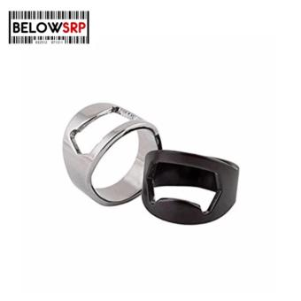 Below SRP Stainless Steel Beer Bottle Ring Opener Buy 1 Take 1(Black/ Silver)