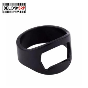 Below SRP Stainless Steel Beer Wine Bottle Finger Ring Opener (Black )