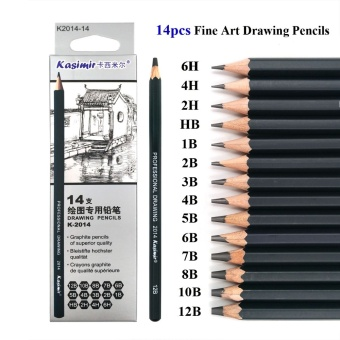 Best Quality 14pcs/set 12B 10B 8B 7B 6B 5B 4B 3B 2B B HB 2H 4H 6HGraphite Sketching Pencils Professional Pencil Set for Drawing -intl Price Philippines