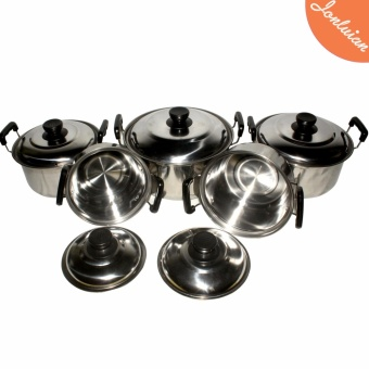 Best Selling Cooking Stock Pot cookware set stainless steel 5 Sets - 2