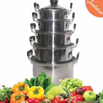 Best Selling Cooking Stock Pot cookware set stainless steel 5 Sets