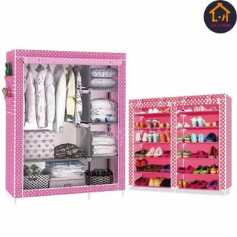 Better One Storage Wardrobe and Clothes Organizer (Pink Dog) WithHigh Quality Double Capacity 6 Layer Shoe Rack Shoe Cabinet (PinkDog) Price Philippines